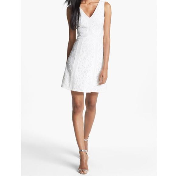 9faab59c BCBGMaxAzria Dresses & Skirts - BCBG MaxAzria Gracie White Sequin Lace Dress  8